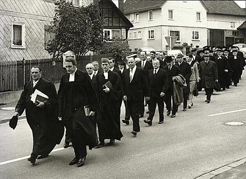 Einführung von Dekan Eisenberg am 4. Oktober 1970